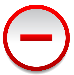 Symbol mínus