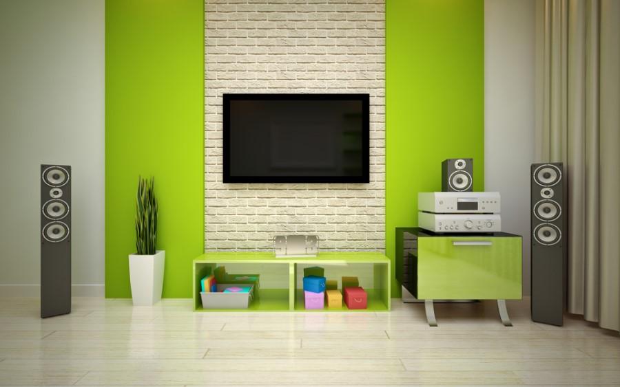Domáce kino 2.1 v interiéri