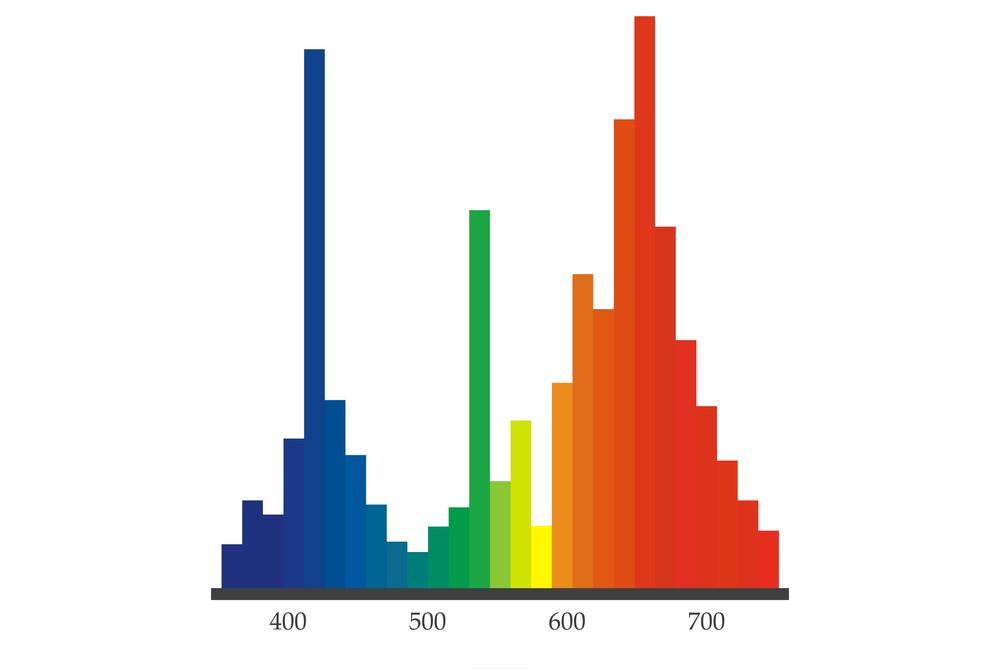Vlnové dĺžky viditeľného farebného spektra
