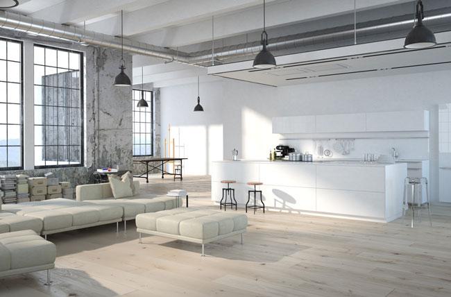 Moderná kuchyňa s obývačkou