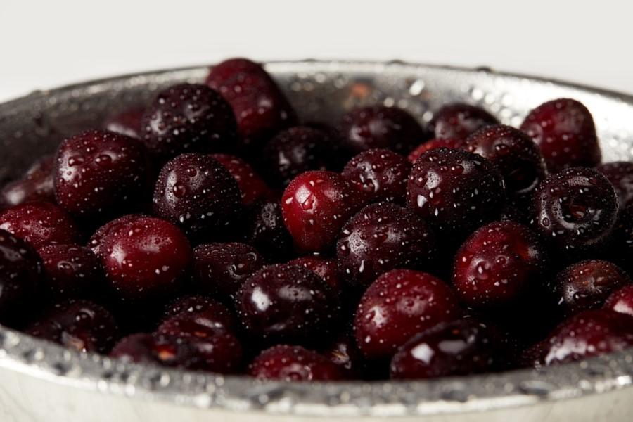 očistené ovocie