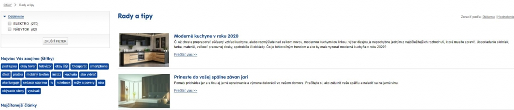 Sekcia článkov Rady a tipy na okay.sk