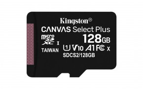 128GB microSDXC Kingston Canvas Select Plus  A1 CL10 100MB/s