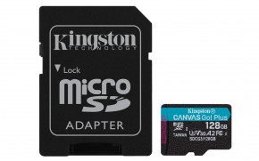 128GB microSDXC KS A2 U3 V30 170MB/s + adapt.