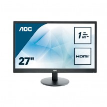 "27"" LED AOC E2770SH - FHD,HDMI,DVI,rep"