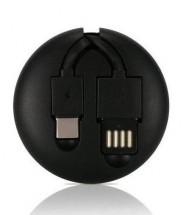 2v1 Kábel Remax USB Typ C/Lightning na USB, 1m, čierna