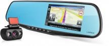 2v1 Kamera + GPS Lamax DRIVE S5 NAVI, zrkadielko + zadná kamera