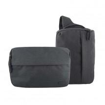 2v1 Taška/batoh na fotoaparát TNB DC2IN1BL šedomodrá