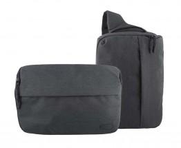 2v1 Taška/batoh na fotoaparát TNB DC2IN1BL šedomodrá ROZBALENÉ