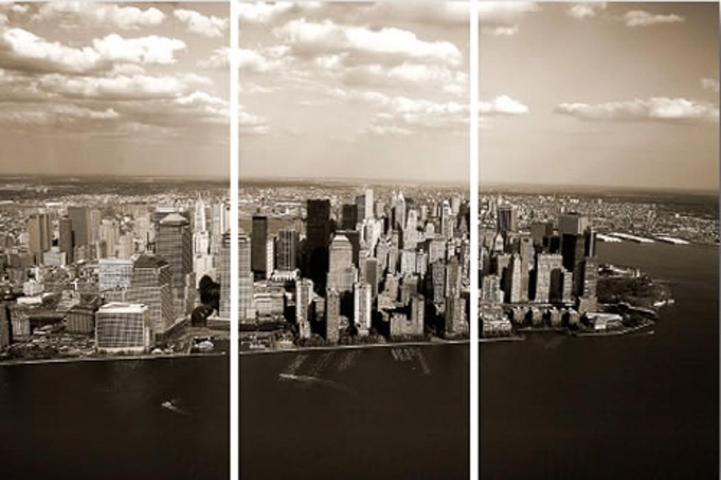 3 dielny obraz New York 30x60 cm