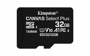 32GB microSDHC Kingston Canvas Select Plus  A1 CL10 100MB/s