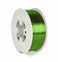 3D filament Verbatim, PET-G, 1,75 mm, 1000 g, 55057,transp.green