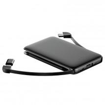 3v1 PowerBank WG 5000mAh MicroUSB+USB Typ C+ Lightning, čierna PO