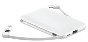 3v1 PowerbankWG 5000mAh MicroUSB + USB Typ C + Lightning,biela