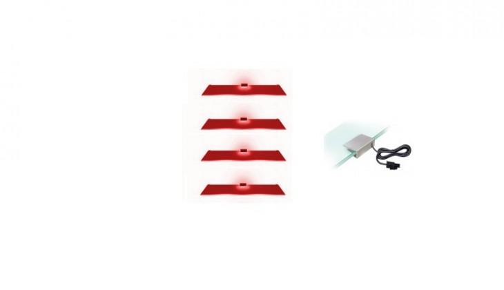 4 LED (červená)