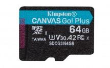 64 GB microSDXC Kingston Canvas Go! Plus A2 U3 V30 170 MB/s