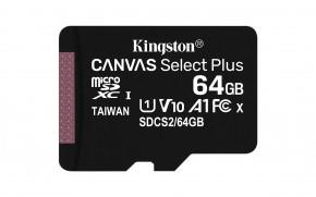 64GB microSDXC Kingston Canvas Select Plus A1 CL10 100MB/s