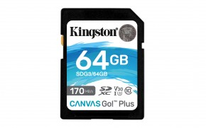 64GB SDXC Kingston U3 V30 170/70MB/s