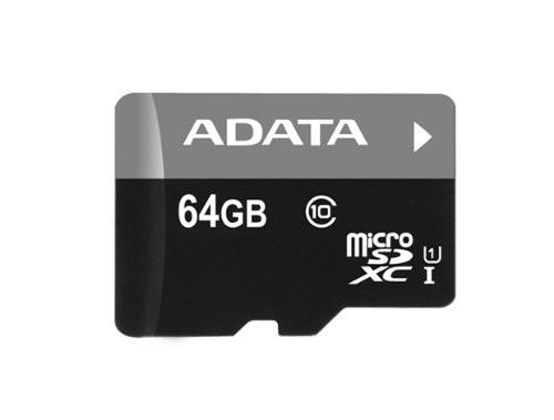 A-Data micro SDXC Premier 64GB UHS-I class 10 + adaptér ROZBALENO