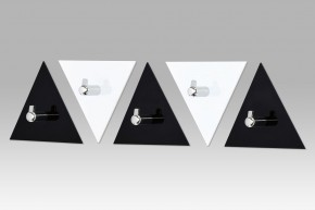AC-13 BC - set nástenných vešiakov (čierna/biela)