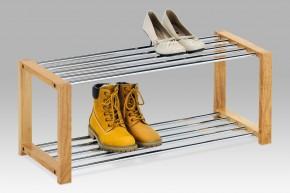 AC-3 CRN - skrinka na topánky (chróm/drevo)