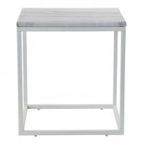 Accent - Konferenčný stolík, biely rám (prírodný mramor, oceľ)