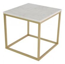 Accent - Konferenčný stolík, hnedý rám (prírodný mramor, oceľ)