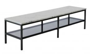 Accent - Konferenčný stolík, obdĺžnik, úl. pr. (mramor, čierna)