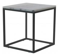 Accent - Konferenčný stolík, štvorec (mramor, čierna)