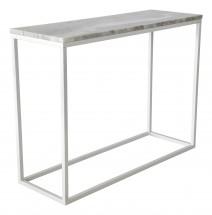 Accent - Prístavný stolík, obdĺžnik (mramor, biela)