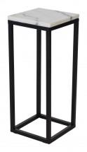Accent - Prístavný stolík, štvorec, nižší (mramor, čierna)