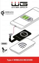 Adaptér/podložka pre bezdrôtové nabíjanie Qi s USB Typ C
