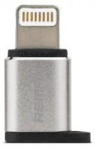 Adaptér Remax Micro USB na Lightning, strieborná