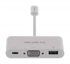 adaptér USB3.1, C zástrčka # C/VGA/A zásuvka, 0,2m