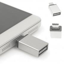 Adaptér WG USB na USB Typ C s OTG, strieborná POUŽITÉ, NEOPOTREBO