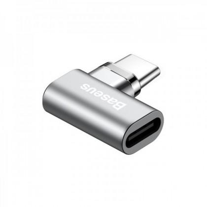 Adaptéry Adaptér Baseus USB Typ C na USB Typ C, zahnutý, magnetický