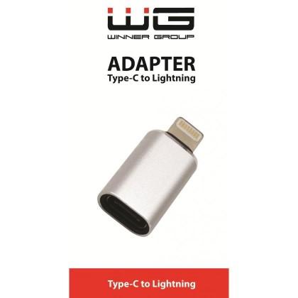 Adaptéry Adaptér Type C to Lightning, strieborná
