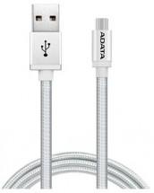 Adata AMUCAL-100CMK-CSV Micro USB, 1m, stříbrný