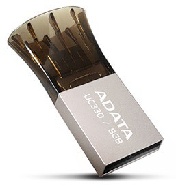 ADATA UC330 8GB, OTG (micro USB), kovová