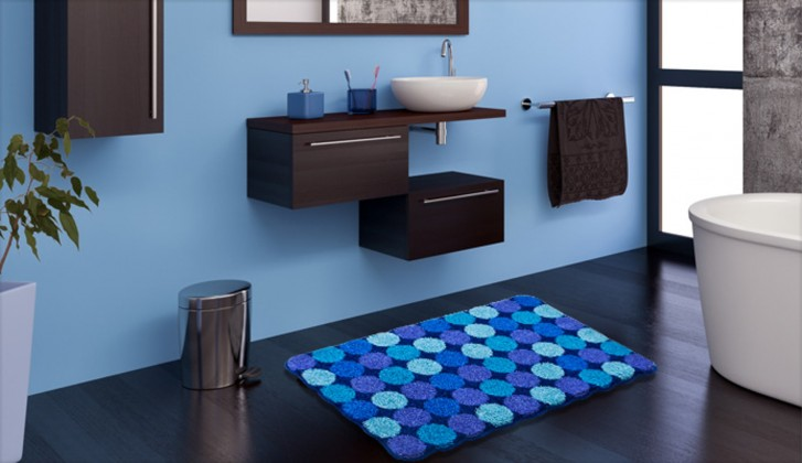 Agarthi - Kúpeľňová predložka 60x100 cm (modrá)