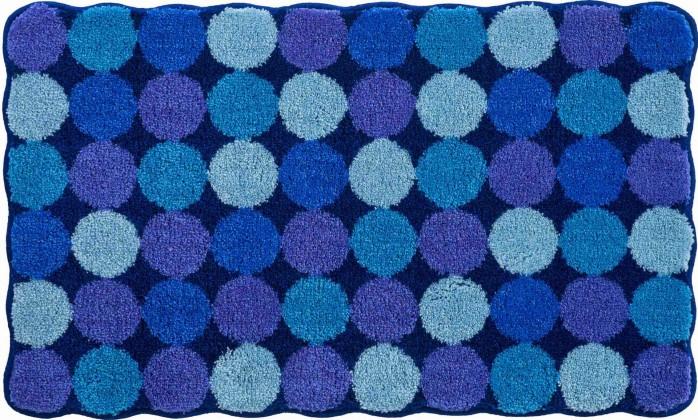 Agarthi - Kúpeľňová predložka 60x100 cm (modro-tyrkysová)