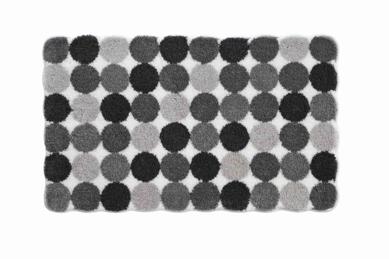 Agarthi - Kúpeľňová predložka 60x100 cm (svetle sivá-čierna)