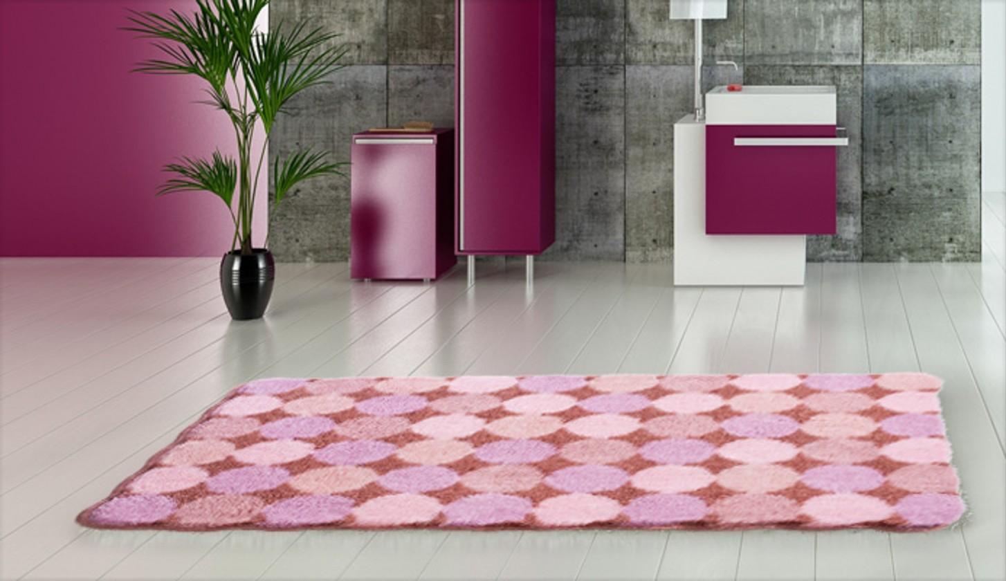 Agarthi - Kúpeľňová predložka 70x120 cm (broskyňová-ružová)