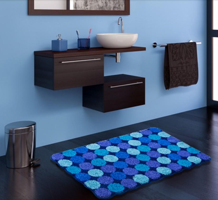 Agarthi - Kúpeľňová predložka 70x120 cm (modrá)