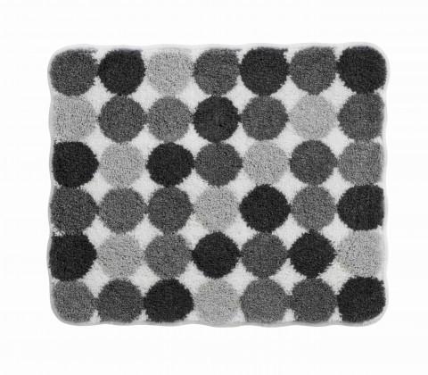 Agarthi - Kúpeľňová predložka malá 50x60 cm (svetle sivá-čierna)