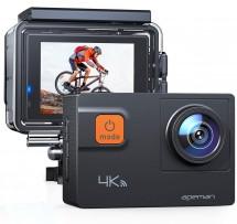 """Akčná kamera Apeman A80 2 """", 4K, WiFi, 170 ° + prísl."""