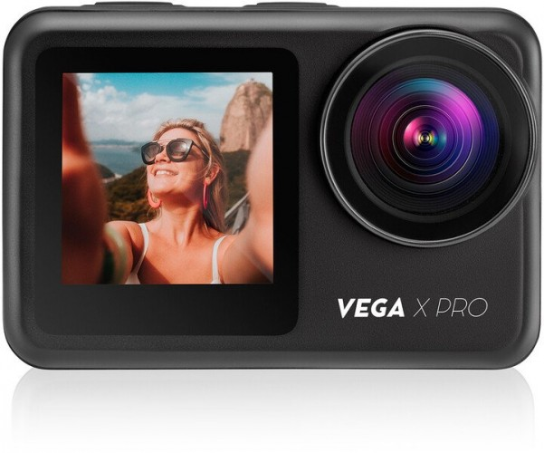 "Akčná kamera Niceboy Vega X PRO 2"", 4K, WiFi, 170° + prísl. + DÁREK Držák na hruď"