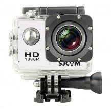 Akčná kamera SJCAM SJ4000 + kopa príslušenstva, biela