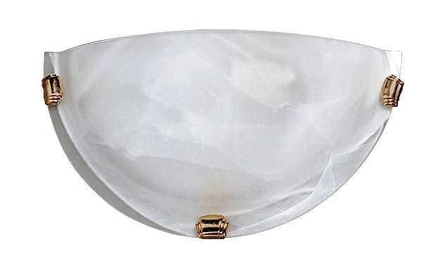 Alabastro - Nástenná svietidla, E27 (biela alabastrová/bronzová )