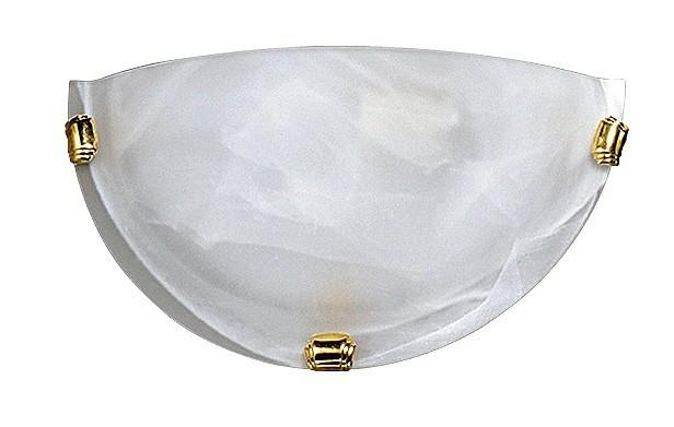 Alabastro - Nástenná svietidla, E27 (biela alabastrová/zlatá )